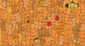 Puedes de encontrar al ratón entre este ejército de ardillas, en menos de 30 segundos.