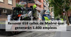 Operación asfalto 2020: 1.600 empleos en Madrid