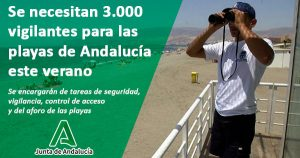 Andalucía contratará 3.000 parados para vigilar las playas