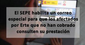 El SEPE habilita un correo especial para los ERTEs