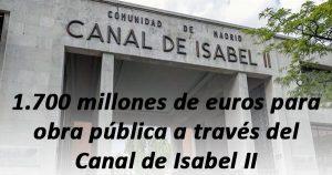 El Canal de Isabel II generará 50.000 empleos