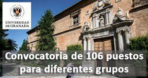 La Universidad de Granada ofertará 106 empleos en administración y servicios