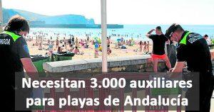 Comienza la selección de 3.000 auxiliares para playas de Andalucía