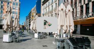 El sector de la hostelería se ahoga en Madrid sin la llegada de turistas