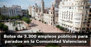 3.300 empleos públicos para parados debido al coronavirus en la Comunidad Valenciana