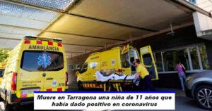 Muere niña de 11 años que había dado positivo en coronavirus