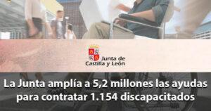 La Junta de CyL contratará 1.154 personas con discapacidad