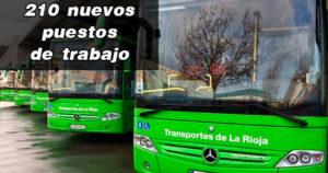 La empresa de transporte provincial de la Rioja creará 210 nuevos puestos de trabajo