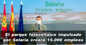 Solaria generará 15.000 empleos en Belinchón (Cuenca)