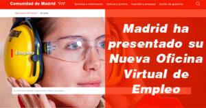 Nueva Oficina Virtual de Empleo de la Comunidad de Madrid