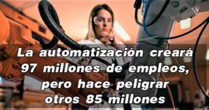 Las maquinas ocuparán casi la mitad de los trabajos en el año 2025