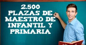 Educación: 2.500 plazas de maestro de Infantil y Primaria