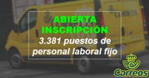 CORREOS abre el plazo de inscripción para su nueva oferta pública