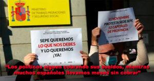 """""""Los políticos siguen cobrando sus sueldos, mientras muchos españoles estamos en ERTE y llevamos meses sin cobrar"""""""