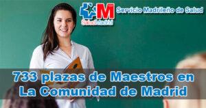Oferta de 733 plazas de Maestros en La Comunidad de Madrid
