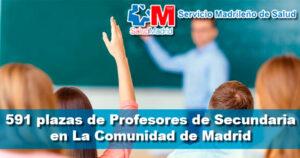 Oferta de 591 plazas de Profesores de Secundaria en La Comunidad de Madrid