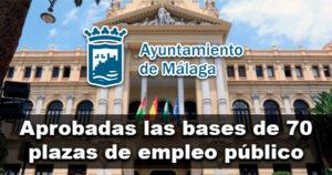 70 plazas de empleo público en el Ayuntamiento de Málaga
