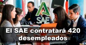El SAE contratará 420 desempleados al finalizar sus prácticas profesionales