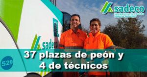 SADECO oferta 37 plazas de peón y 4 de técnicos en Córdoba