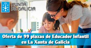 Oferta de 99 plazas de Educador Infantil en La Xunta de Galicia