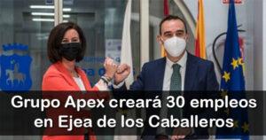 El grupo Apex creará 30 empleos en Ejea