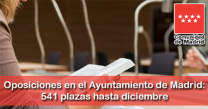 Ayuntamiento de Madrid: 541 plazas hasta diciembre