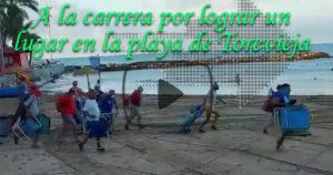La carrera más madrugadora para lograr un lugar en la playa de Torrevieja