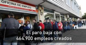 El paro baja en 110.100 trabajadores