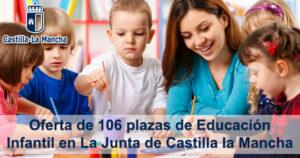 Oferta de 106 plazas de Educación Infantil en La Junta de Castilla la Mancha