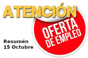 Ofertas empleo sucurriculum.com 15 de octubre